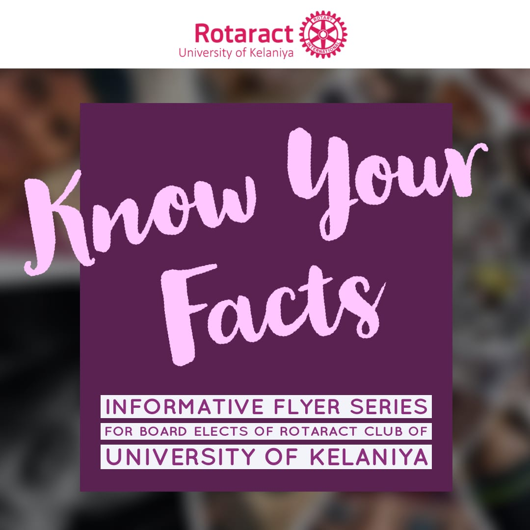 Read more about the article How's your knowledge about Rotaract? THE INFORMATIVE FLYER SERIES