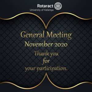 Read more about the article Monthly General Meeting- November