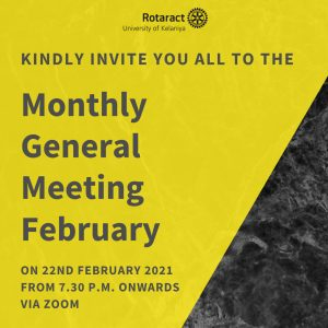 Read more about the article Monthly General Meeting: February